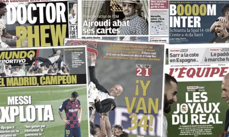 La terrible sortie médiatique de Lionel Messi enflamme Barcelone, le sacre du Real Madrid fait les gros titres