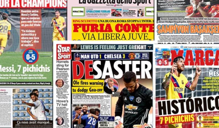L'Espagne rend hommage au recordman Lionel Messi, la presse anglaise fracasse David De Gea