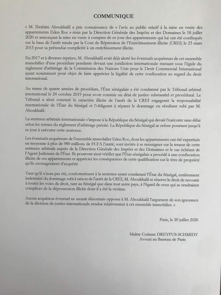 Vente de ses appartements à Eden Roc : Bibo Bourgi avertit les éventuels acquéreurs