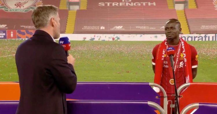 Jamie Carragher déclare sa flamme à Mané après la remise du trophée de Premier League: « tu sais que je t'aime…»