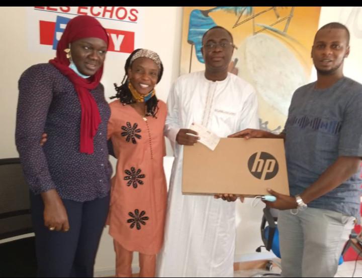Sénégal : un montant de 500.000 FCFA et trois (3) ordinateurs remis au quotidien « Les Echos »