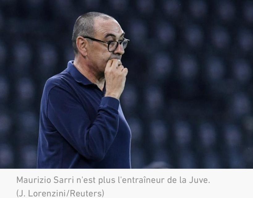 Juventus : Maurizio Sarri va être renvoyé