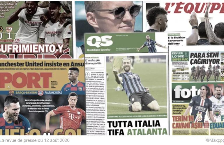 Toute l'Italie pousse pour l'Atalanta contre le PSG, Manchester United insiste pour Ansu Fati