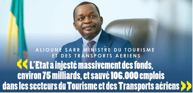 """Ministre Alioune Sarr: """"le Tourisme et les Transports aériens ont déjà annoncé leur relance"""" (Interview)"""