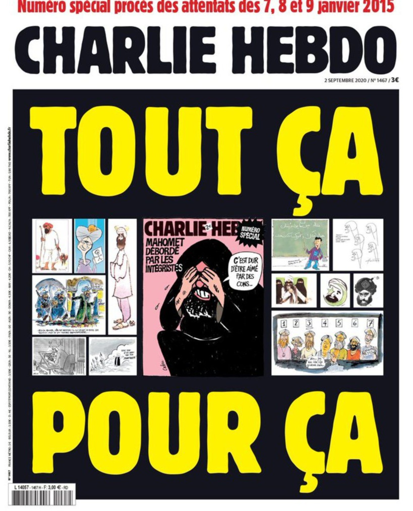 «Nous ne renoncerons jamais» : Charlie Hebdo republie les caricatures de Mahomet