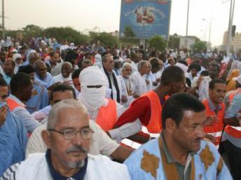 Déjà en mai 2012, les partisans de l'opposition politique manifestaient contre le président mauritanien