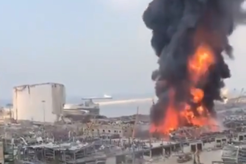 Beyrouth : un important incendie s'est à nouveau déclaré sur le port