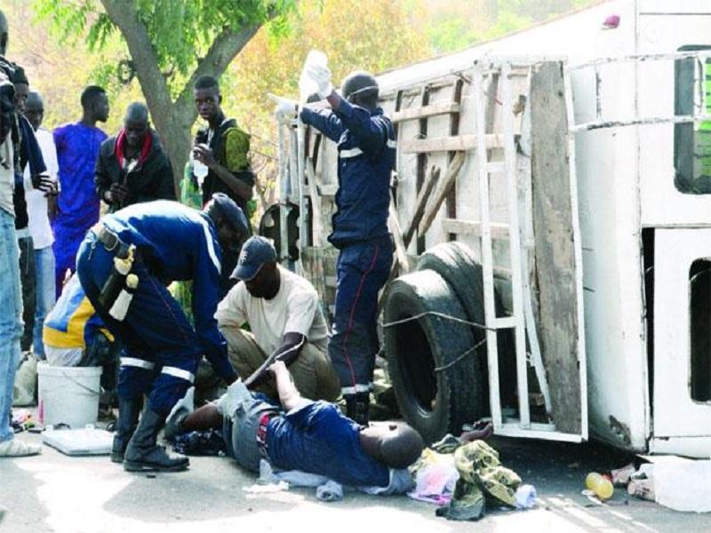 Grave accident d'un minibus sur l'axe Linguère-Matam : le bilan fait état de 22 blessés dont 4 grièvement