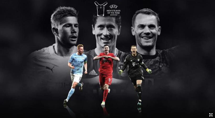UEFA dévoile les 3 nommés pour le titre du joueur de l'année