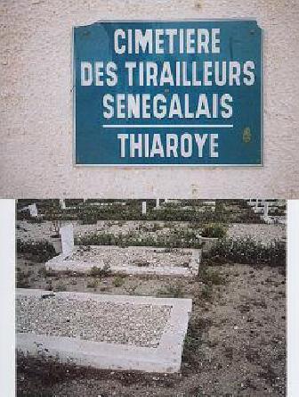 © Dr. P.Herzberger-Fofana. Le cimetière de Thiaroye, à 20 kms de Dakar,