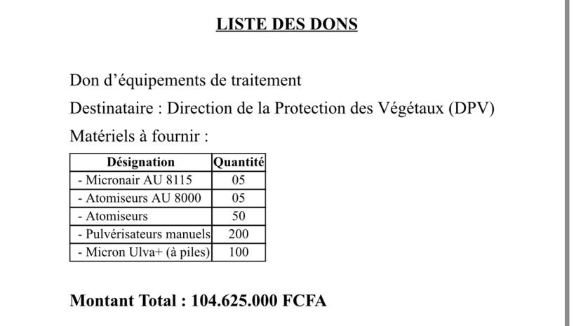 Contre les criquets pèlerins, le Japon offre des équipements de traitement d'un montant de 104 millions au Sénégal