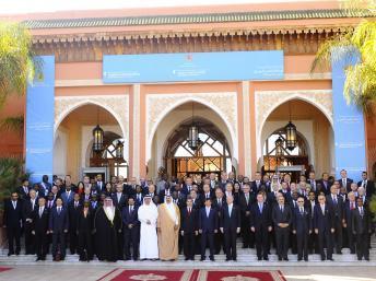 Le groupe des Amis de la Syrie formé de pays arabes et occidentaux. Marrakech, le 12 décembre 2012. REUTERS/Abderrahmane Mokhtari