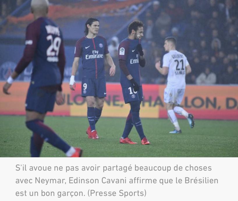 Cavani parle de Neymar après sa signature à Manchester United: « On n'a pas partagé beaucoup de choses »