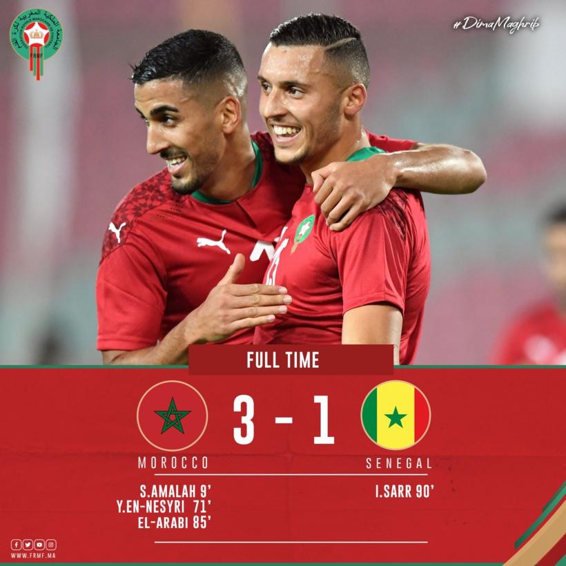 En amical à Rabat, le Maroc corrige le Sénégal (3-1)