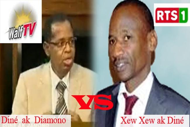 Critique Médias : Diné ak Diamono (walf Tv) contre Xew Xew ak Diné (RTS1)
