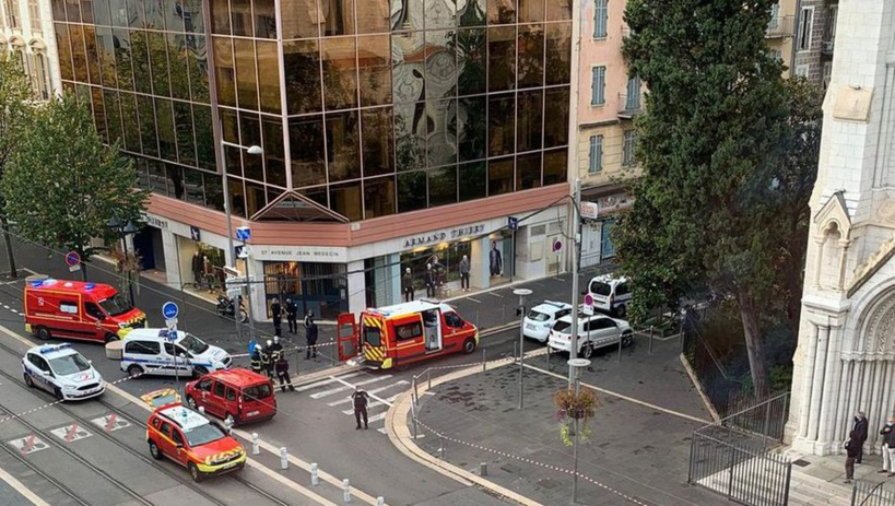 Nice : Deux (2) morts et plusieurs blessés dans une attaque à couteau près d'une église