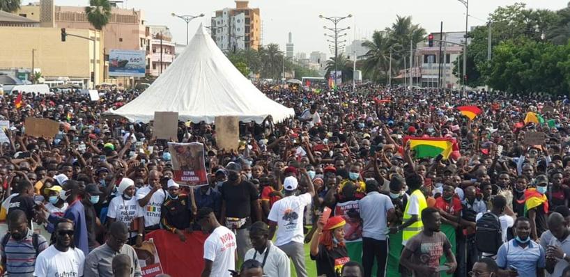 Les images de la manifestation des Guinéens à Dakar ce vendredi 30 octobre