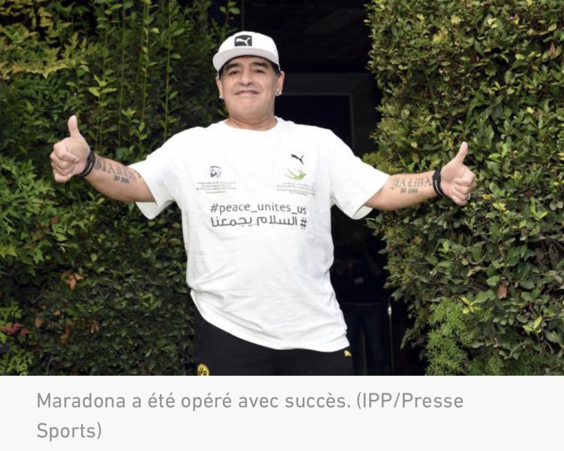 Diego Maradona opéré avec succès
