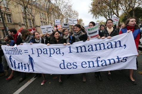 France : «Manif pour tous» contre le mariage homosexuel