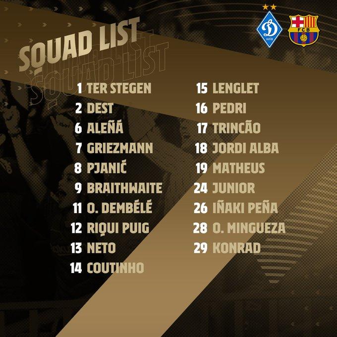 LdC : Messi absent du groupe du Barça qui affrontera le Dynamo Kiev mardi