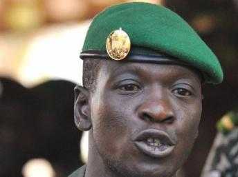 Le capitaine Amadou Sanogo, chef des putschistes. AFP PHOTO / ISSOUF SANOGO