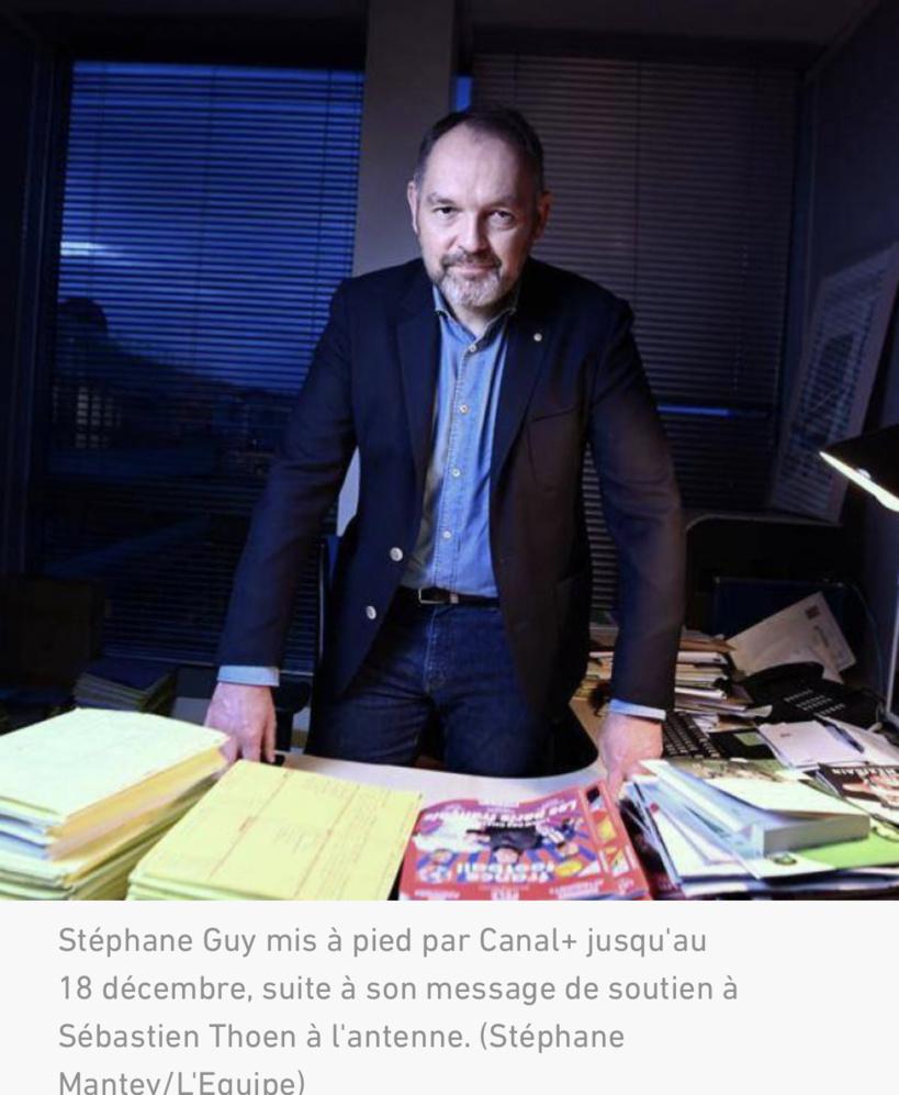 Stéphane Guy mis à pied par Canal+