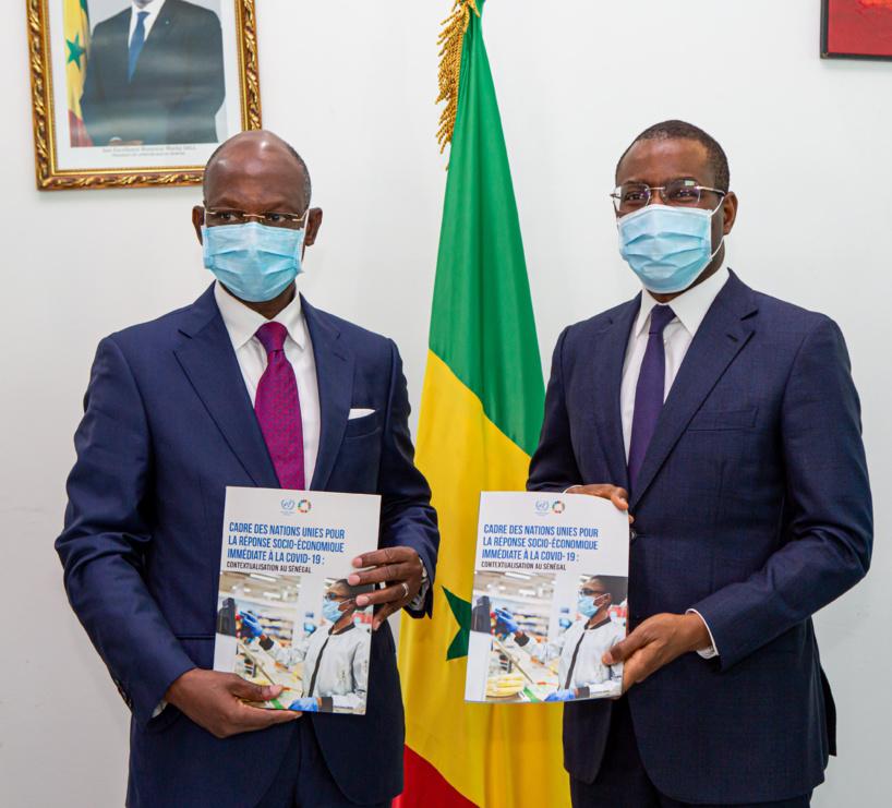 Réponse socio-économique immédiate à la Covid-19: le ministre Amadou Hott a reçu le rapport sur le Cadre du Système des Nations Unies