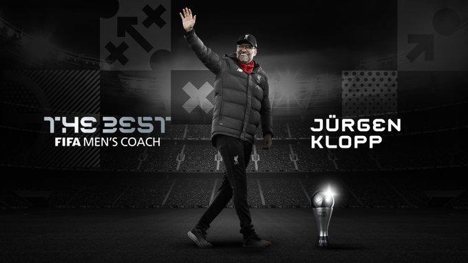 #FifaTheBest: Jûrgen Klopp, sacré entraîneur de l'année pour la 2e fois consécutive