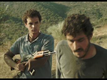 """Yema"", de Djamila Sahraoui, ici avec Ali Zarif et Samir Yahia, en lice pour l'Etalon d'or du 23e Fespaco. Neon Productions"