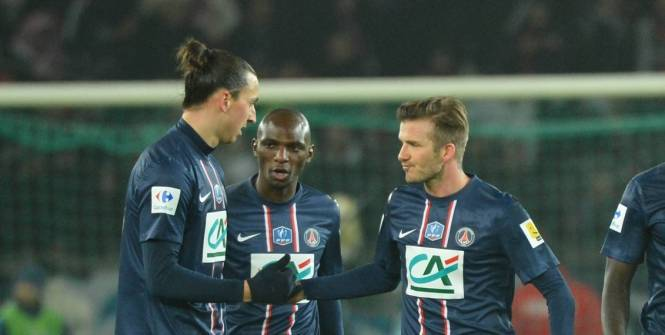 David Beckham et Zlatan Ibrahimovic se sont bien entendus mercredi sur le pelouse du Parc des Princes contre l'OM. (L'Equipe)