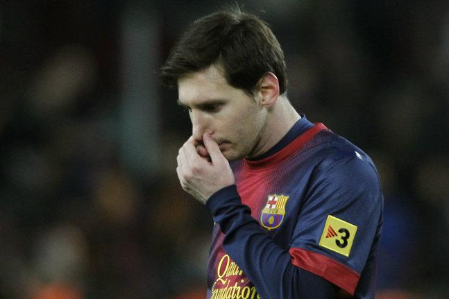 Messi et le Barça sont dans le dur en ce moment. (reuters)