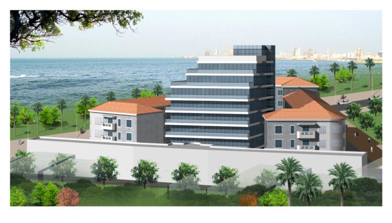 Maquette du nouveau siège de la Direction des Douanes sénégalaises