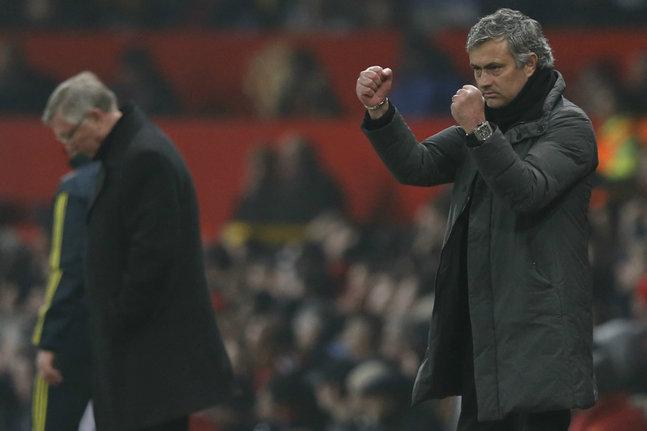 José Mourinho a défendu Sir Alex Ferguson lors de la conférence de presse d'après-match. (Reuters)