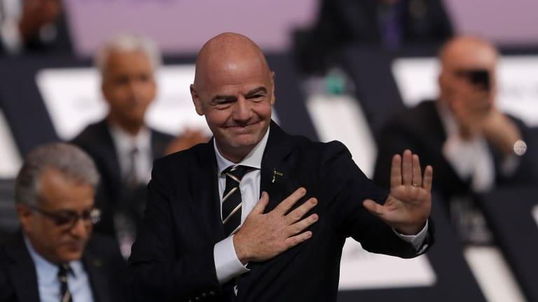 Le Président de la FIFA est au Cameroun pour l'ouverture du CHAN Total