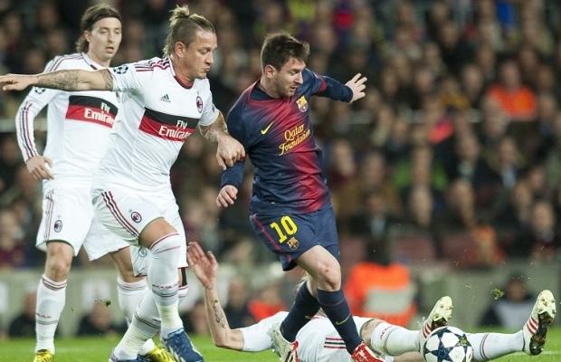 Lionel Messi (Barcelone) vs Philippe Mexes (Milan)