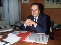André Fontaine en 1984. L'homme a dirigé «Le Monde» de 1985 à 1991.