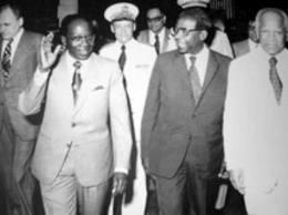 Aimé Césaire et Léopold Sédar Senghor