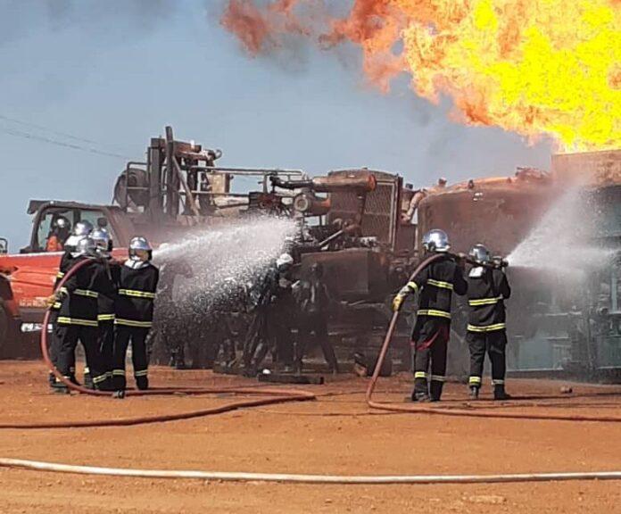 Puits de Gaz de Ngadiaga: les flammes apaisées en attendant l'extinction de l'incendie