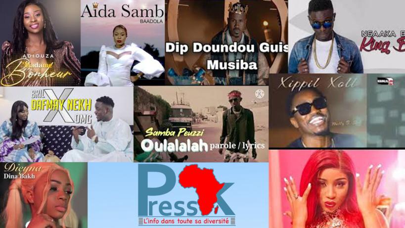 Top 10 des Tubes sénégalais les plus tendances sur Youtube depuis novembre: Adiouza en tête