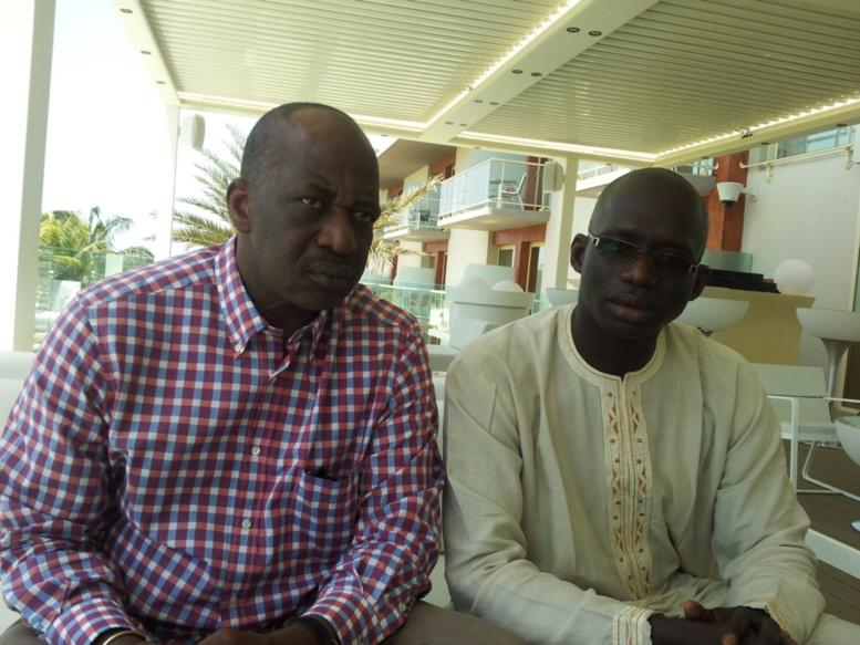 Abdou Kader Gueye DG Agrophytex et Ibrahima Lissa FAYE Directeur de publication de PressAfrik ce samedi 6 avril à l'hôtel Terrou Bi