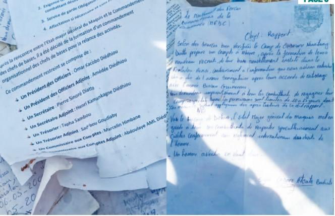Le contenu édifiant des documents du Mfdc saisis par l'Armée