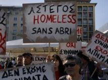 Grèce: manifestation des sans-abri à Athènes