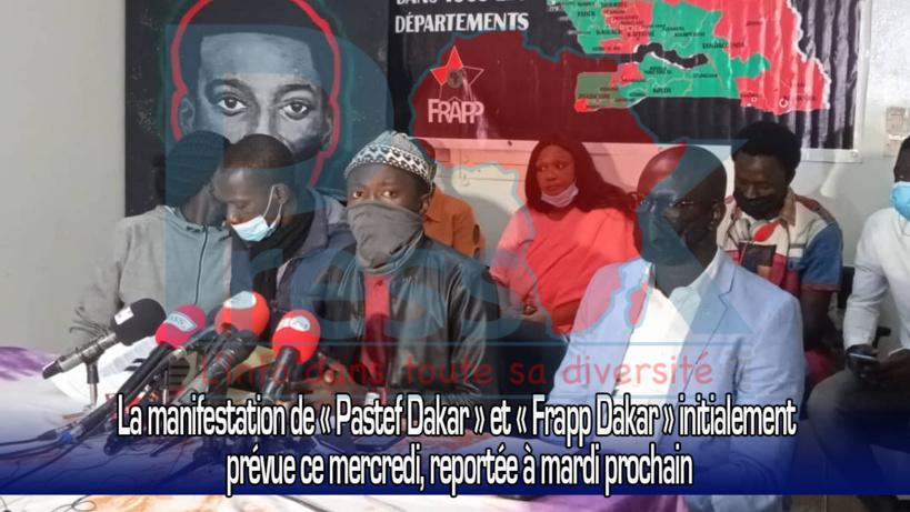 La manifestation de « Pastef Dakar » et « Frapp Dakar » initialement prévue ce mercredi, reportée à mardi prochain