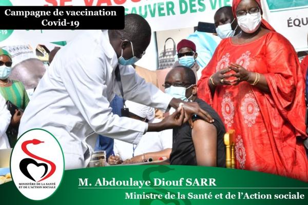 Sénégal : 4.087 personnes vaccinées à la date du mercredi 24 février