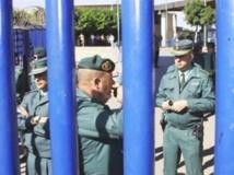Poste frontière de Beni-Ensar, entre le Maroc et l'enclave espagnole de Melilla.