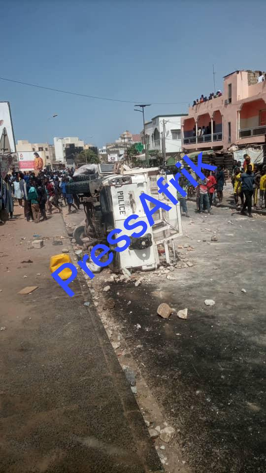 Manifestations contre l'arrestation de Sonko à Pikine & Guédiawaye : la scène de la guérilla en image