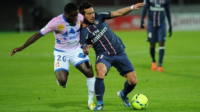 Evian TG/PSG: Victoire sous haute tension - carton rouge pour Verratti, Beckham et Sirigu (0-1)