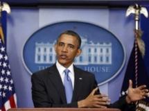 Le président Obama pendant sa conférence de presse à la Maison Blanche, le 30 avril 2013.