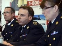 Des chefs de la police à Toronto après avoir déjoué un attentat en avril 2013.