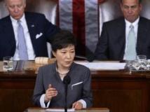 Park Geun-hye, la présidente sud-coréenne devant le Congrès américain, Washington, le 8 mai 2013.